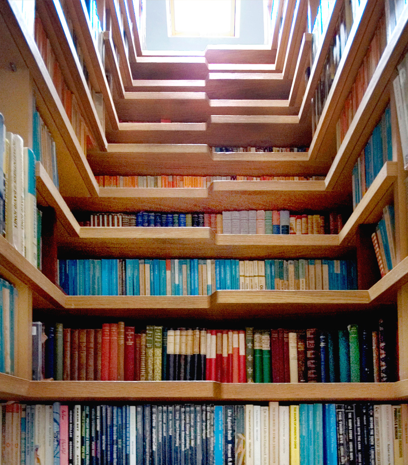 Bookcase-Staircase-from-bottom