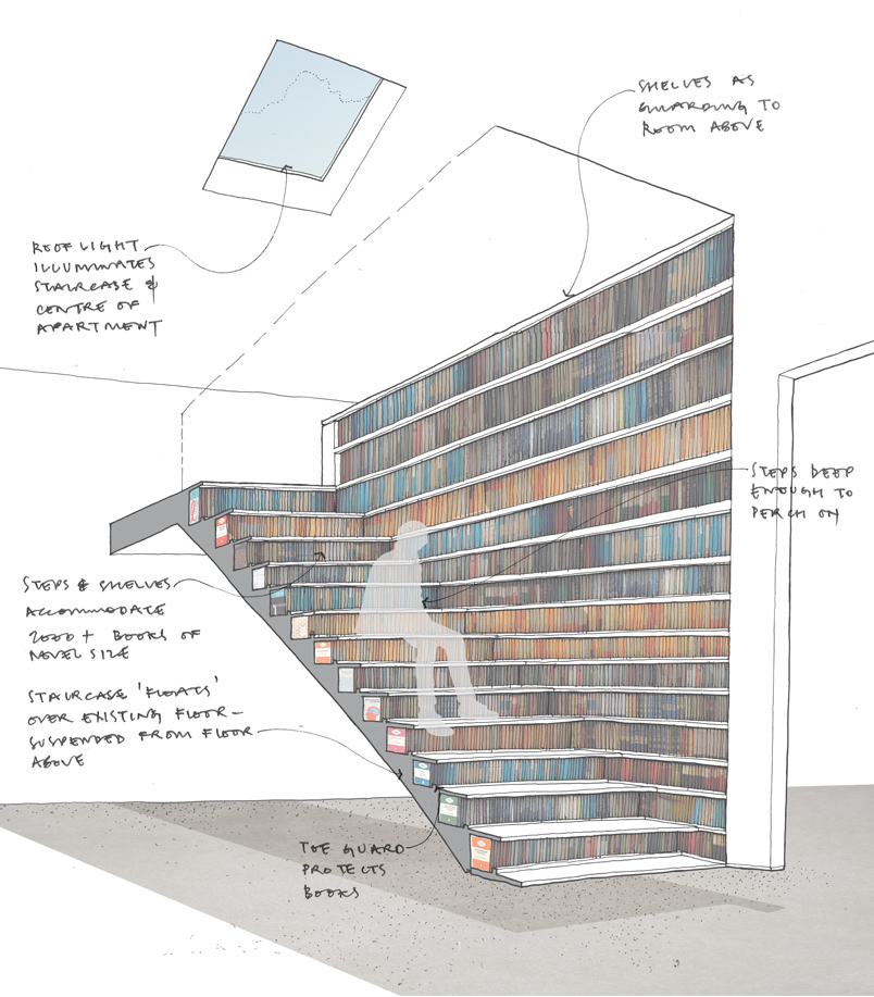 Bookcase-Staircase-sketch